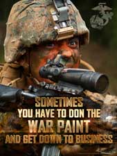 don the war paint