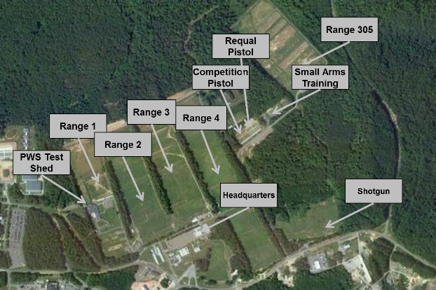 Recreational Firing Ranges Map